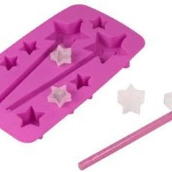 Fred and Friends ICE PRINCESS Star-Shaped Ice Tray with Straws