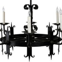 One Kings Lane - John Salibello Antiques - 8-Arm Wrought Iron Chandelier