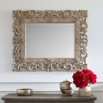 Savannah Carved Wood Mirror