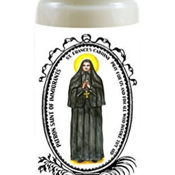 Saint Frances Cabrini Patron of Immigrants 8 Ounce Scented Soy Prayer Candle