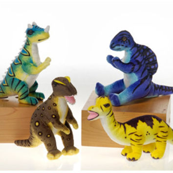 """8.5"""" stuffed dinosaurs- assorted Case of 24"""