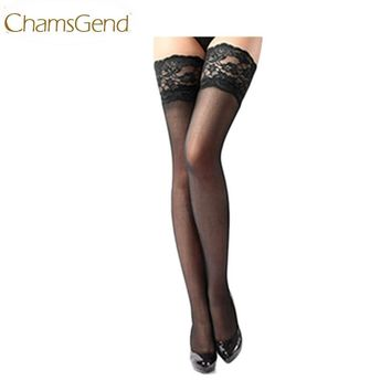 Women Girl Sexy Sheer Lace Top Thigh High Sexy Lingerie Stockings
