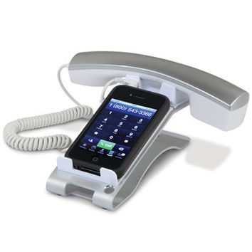 The iPhone Desktop Handset - Hammacher Schlemmer