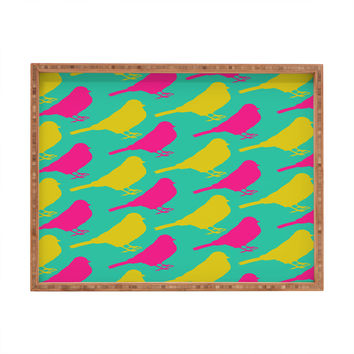Allyson Johnson Bright Birdies Rectangular Tray