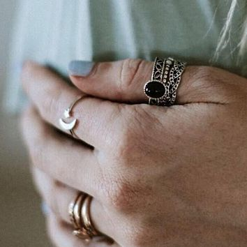 Gypsy Flair Ring Set - Black