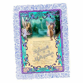 AINE & FENNEL FAERIE Invocation Digital Download, ,   Book of Shadows Page, Grimoire, Scrapbook, Spells