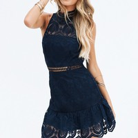 Eclipse of the Heart Dress (Navy)