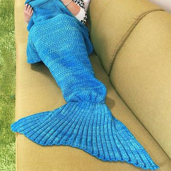 Knitted Warm Fishtail Blanket
