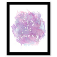 Enjoy The Journey, Watercolor Art, Pink Art, Wall Art, Home Decor, Quote Art Print, Inspirational Quote, Printable Art INSTANT DOWNLOAD