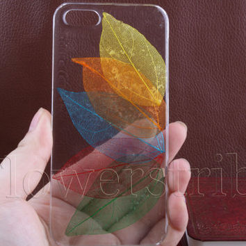 Pressed Flower iPhone 5/5s case, iPhone 4s case, iPhone 4 case, iPhone 5c case Galaxy S3 S4 S5 Note 2 Note 3, Colorful leaves Flowers NO:26