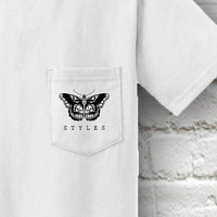 Harry Styles Butterfly Tattoo Pocket T-Shirt