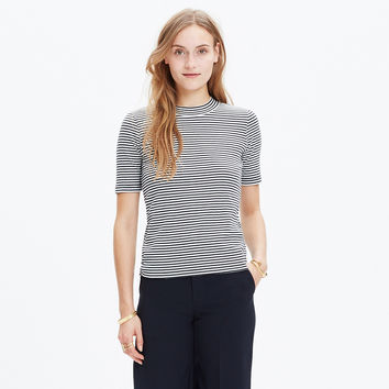 LO-FI TEE IN MINI-STRIPE