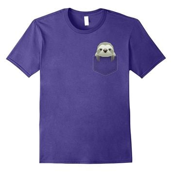 Sloth In Pocket Funny T-Shirt Cute Animal Lover