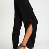 Exposed Leg Jogger Pants