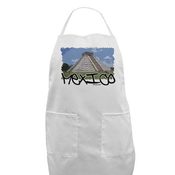 Mexico - Mayan Temple Cut-out Adult Apron