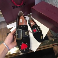 Bally Women Casual Shoes Boots fashionable casual leather Women Heels Sandal Shoes created created created created created