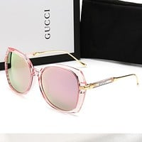 GUCCI Newest Trending Women Men Stylish Summer Sun Shades Eyeglasses Glasses Sunglasses Pink
