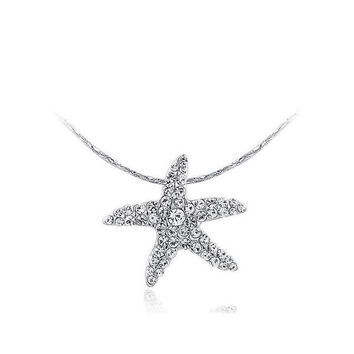 Gift Stylish New Arrival Shiny Jewelry Crystal Sea Necklace [9281911940]