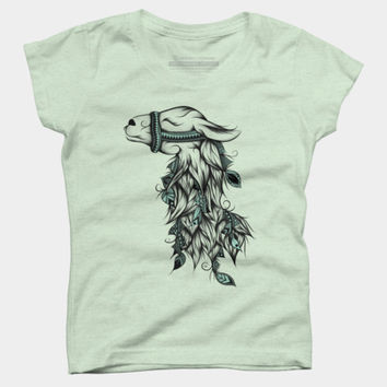 Poetic Llama T Shirt By LouJah Design By Humans