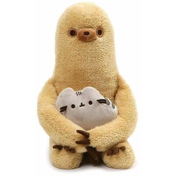 Gund Sloth & Pusheen Plush Set of 2, 13""