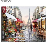 DRAWJOY Framed Pictures DIY Painting By Numbers Wall Art Acrylic Paintings Handpainted Home Decor For Living Room GX4547