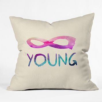 Jacqueline Maldonado Forever Young 1 Throw Pillow