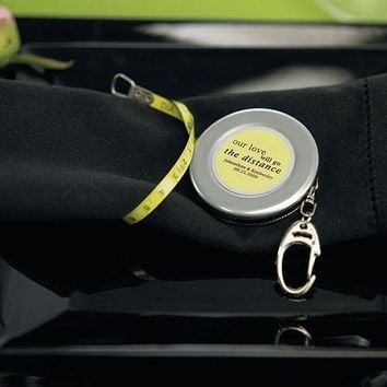 Tape Measure Keychain Wedding Favor (Pack of 1)