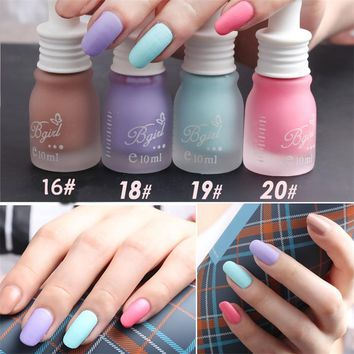Summer Fashion Women DIY Nail Art 10ML Candy Color Stylish Matte Nail Polish Enamel Pastel Pigment Nail Decoration New