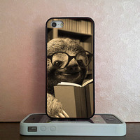 Sloth Reading , iPhone 5S case , iPhone 5C case , iPhone 5 case , iPhone 4S case , iPhone 4 case , iPod 4 case , iPod 5 case