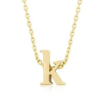 Golden Initial K Pendant (pack of 1 ea)