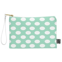 Allyson Johnson Mintiest Polka Dots Pouch