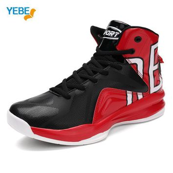 YEBE New Men Jordan Basketball Shoes 2017 Male Ankle Boots Anti-slip Outdoor Athletic