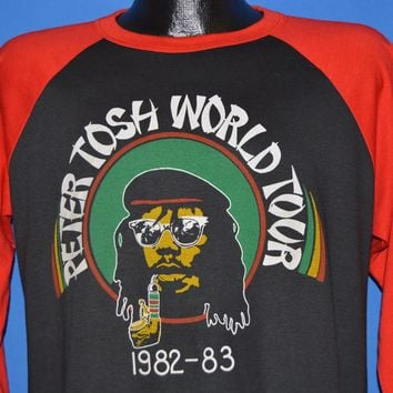 80s Peter Tosh World Tour 1982 t-shirt Large