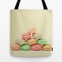 French Macarons Tote Bag by Cassia Beck