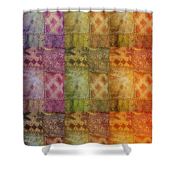 Boho Shower Curtain, Bohemian Home Decor, India, Bathroom Decor, Bollywood, Ethnic, Colorful, Sari, Photo Curtain, Travel Photography, Gypsy