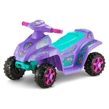 KidTrax Girls' Melody 6V Quad Ride-On Purple