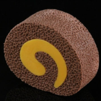 Chocolate Cut Roll Cake Eraser