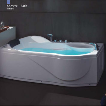 67' Left Or Right Head Rest Putting Whirlpool Bathtub Acrylic Abs Composite Board Piscine Massage Hot Tub W4008