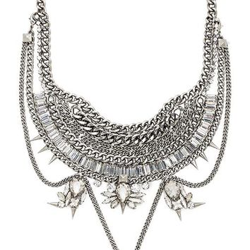 XEVANA Titania x Isis Necklace in Metallic Silver