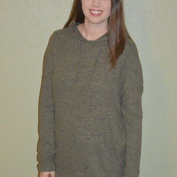 Everything I Love Olive Hoodie Sweater