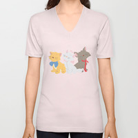 three aristocats..  V-neck T-shirt by studiomarshallarts