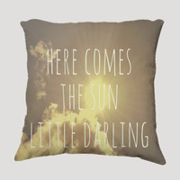 "Throw Pillow-Home Decor- ""Little Darling"" 18 x 18 Pillow-Typography--Sunshine & Clouds-Home Decor- - $35.00 - Handmade Home Decor, Crafts and Unique Gifts by Vintage Skies Photography & Designs"