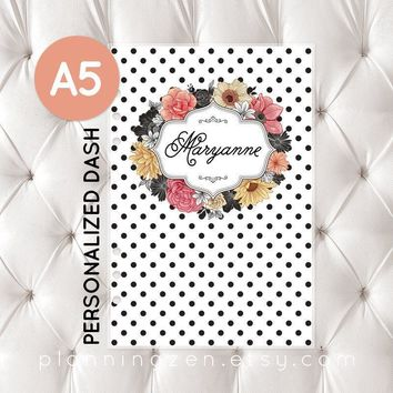 Personalized A5 Planner Dashboard - Floral Romance #1