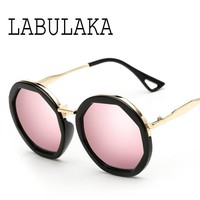 Elegant Sunglasses Women Famous Designer Eye wear Vintage Round Sunglasses For Female Ladies Fashion Mirror Glasses Shades