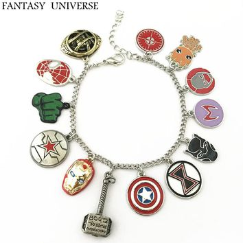 FANTASY UNIVERSE Freeshipping 20pcs a lot New The Avengers charm bracelet FCZLKDKF01