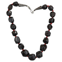 Garnet Necklace Large Nugget Bead Sterling Silver