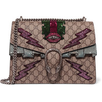 Gucci - Dionysus medium appliquéd coated canvas shoulder bag