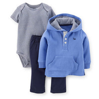 3-Piece Hooded Pullover & Pant Set