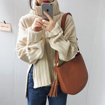 Busos Para Mujer 2017 Autumn And Winter Turtleneck Knitted Sweaters Womens Sweaters And Pullovers Womens  Casaco Feminino