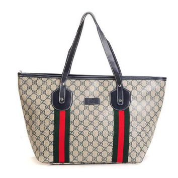 GUCCI Women Leather Fashion Zipper Shoulder Bag Crossbody Handbag